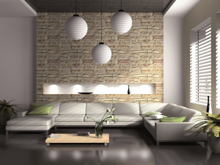Обои под кирпич в современных интерьерах и ретро стилях