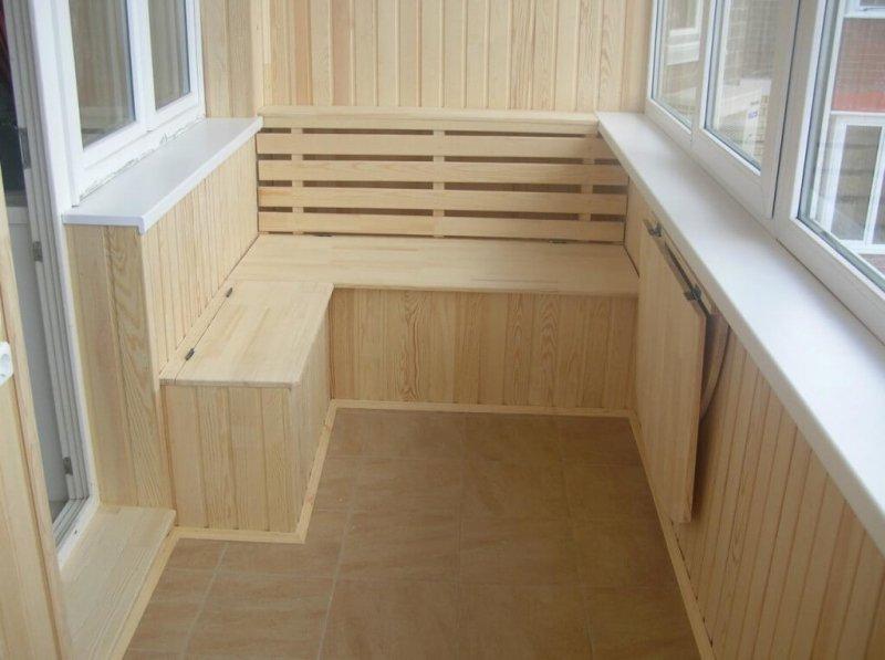 Последовательность работ и выбор материалов при внутренней отделке балкона своими руками