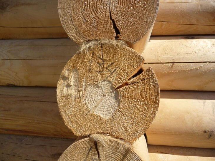 Чем обработать торцы бревен сруба после возведения дома
